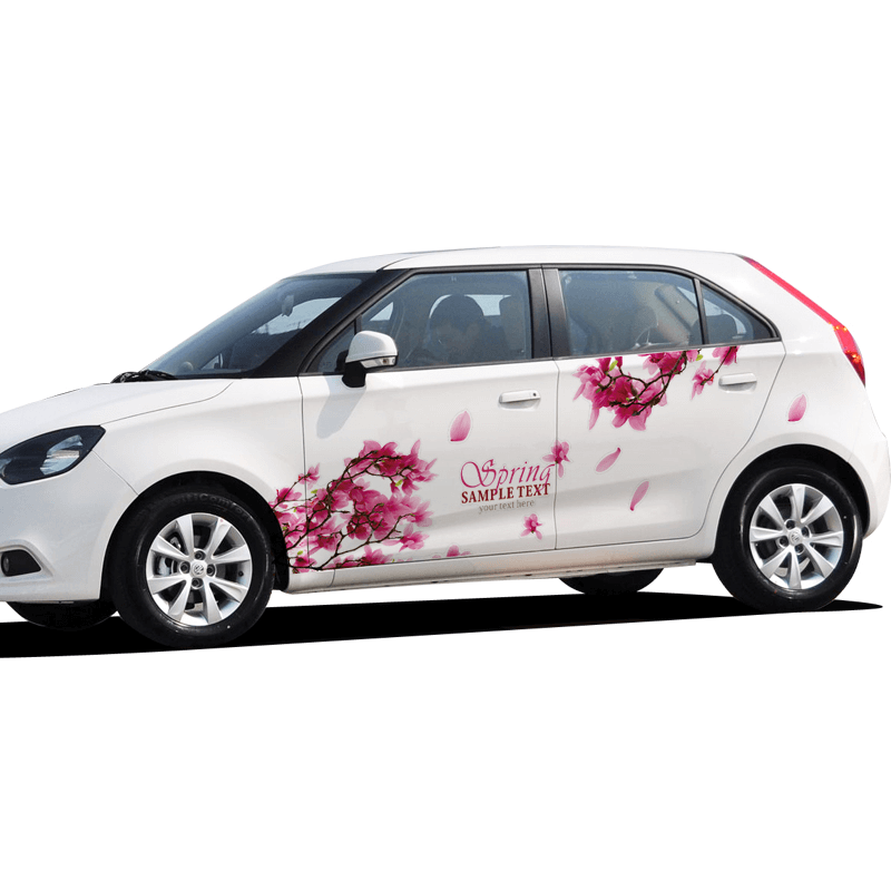 Наклейки на женской машины цветы фото